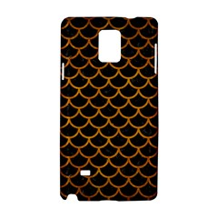 Scales1 Black Marble & Yellow Grunge (r) Samsung Galaxy Note 4 Hardshell Case by trendistuff