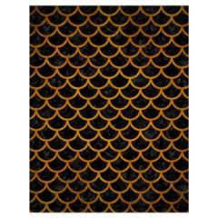 Scales1 Black Marble & Yellow Grunge (r) Drawstring Bag (large) by trendistuff