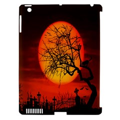Helloween Midnight Graveyard Silhouette Apple Ipad 3/4 Hardshell Case (compatible With Smart Cover) by Mariart