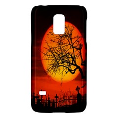 Helloween Midnight Graveyard Silhouette Galaxy S5 Mini by Mariart