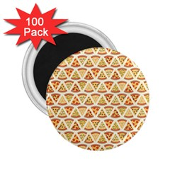 Food Pizza Bread Pasta Triangle 2 25  Magnets (100 Pack)  by Mariart