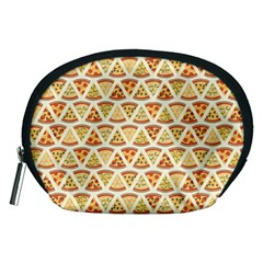 Food Pizza Bread Pasta Triangle Accessory Pouches (medium)  by Mariart