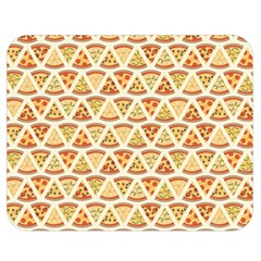 Food Pizza Bread Pasta Triangle Double Sided Flano Blanket (medium)  by Mariart