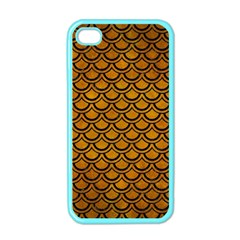 Scales2 Black Marble & Yellow Grunge Apple Iphone 4 Case (color)