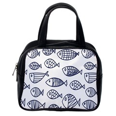 Love Fish Seaworld Swim Blue Sea Water Cartoons Classic Handbags (one Side) by Mariart