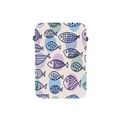 Love Fish Seaworld Swim Blue White Sea Water Cartoons Rainbow Polka Dots Apple Ipad Mini Protective Soft Cases by Mariart