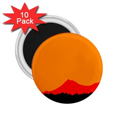 Mountains Natural Orange Red Black 2 25  Magnets (10 Pack)  by Mariart