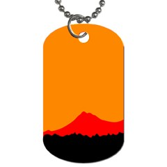 Mountains Natural Orange Red Black Dog Tag (one Side) by Mariart