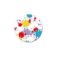 Paint Splash Rainbow Star Golf Ball Marker (4 Pack) by Mariart