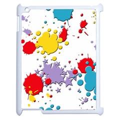 Paint Splash Rainbow Star Apple Ipad 2 Case (white) by Mariart