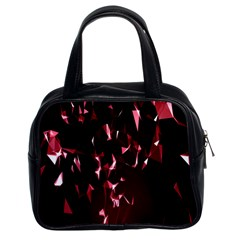 Lying Red Triangle Particles Dark Motion Classic Handbags (2 Sides) by Mariart