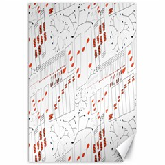 Musical Scales Note Canvas 20  X 30   by Mariart