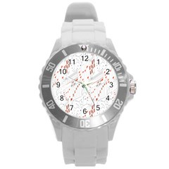 Musical Scales Note Round Plastic Sport Watch (l) by Mariart