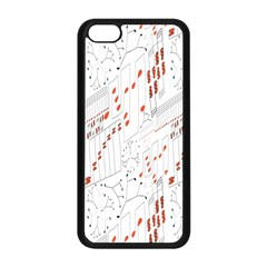 Musical Scales Note Apple Iphone 5c Seamless Case (black) by Mariart