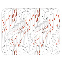 Musical Scales Note Double Sided Flano Blanket (medium)  by Mariart