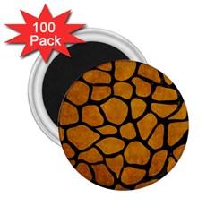 Skin1 Black Marble & Yellow Grunge (r) 2 25  Magnets (100 Pack)  by trendistuff