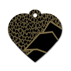 Polka Spot Grey Black Dog Tag Heart (one Side) by Mariart