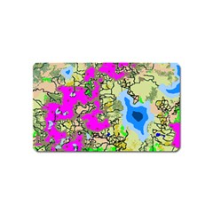Painting Map Pink Green Blue Street Magnet (name Card) by Mariart