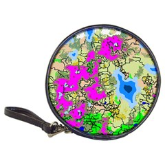 Painting Map Pink Green Blue Street Classic 20 Cd Wallets by Mariart