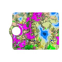 Painting Map Pink Green Blue Street Kindle Fire Hd (2013) Flip 360 Case by Mariart