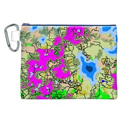 Painting Map Pink Green Blue Street Canvas Cosmetic Bag (xxl) by Mariart