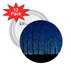 Forest Tree Night Blue Black Man 2 25  Buttons (10 Pack)  by Mariart