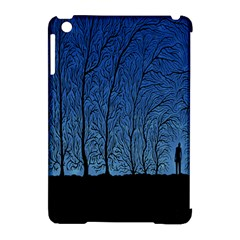 Forest Tree Night Blue Black Man Apple Ipad Mini Hardshell Case (compatible With Smart Cover) by Mariart
