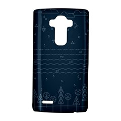 Rain Hill Tree Waves Sky Water Lg G4 Hardshell Case by Mariart