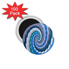 Psycho Hole Chevron Wave Seamless 1 75  Magnets (100 Pack)  by Mariart