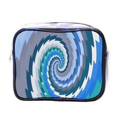 Psycho Hole Chevron Wave Seamless Mini Toiletries Bags by Mariart