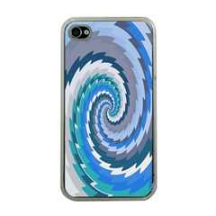 Psycho Hole Chevron Wave Seamless Apple Iphone 4 Case (clear) by Mariart