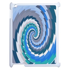 Psycho Hole Chevron Wave Seamless Apple Ipad 2 Case (white) by Mariart
