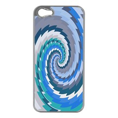 Psycho Hole Chevron Wave Seamless Apple Iphone 5 Case (silver) by Mariart