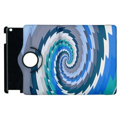Psycho Hole Chevron Wave Seamless Apple Ipad 3/4 Flip 360 Case by Mariart