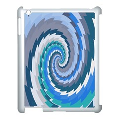 Psycho Hole Chevron Wave Seamless Apple Ipad 3/4 Case (white) by Mariart