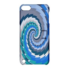 Psycho Hole Chevron Wave Seamless Apple Ipod Touch 5 Hardshell Case With Stand by Mariart