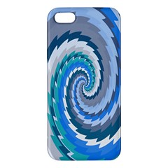 Psycho Hole Chevron Wave Seamless Apple Iphone 5 Premium Hardshell Case by Mariart