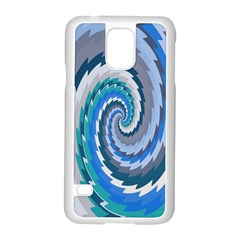 Psycho Hole Chevron Wave Seamless Samsung Galaxy S5 Case (white) by Mariart