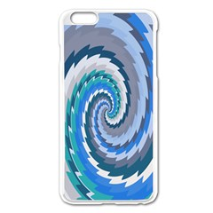Psycho Hole Chevron Wave Seamless Apple Iphone 6 Plus/6s Plus Enamel White Case by Mariart