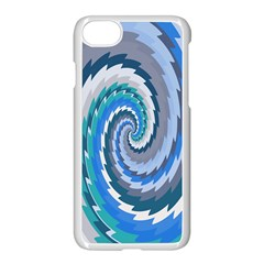 Psycho Hole Chevron Wave Seamless Apple Iphone 8 Seamless Case (white) by Mariart