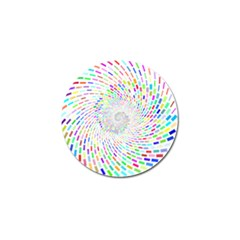 Prismatic Abstract Rainbow Golf Ball Marker (10 Pack) by Mariart