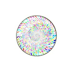 Prismatic Abstract Rainbow Hat Clip Ball Marker (4 Pack) by Mariart