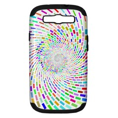 Prismatic Abstract Rainbow Samsung Galaxy S Iii Hardshell Case (pc+silicone) by Mariart