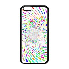 Prismatic Abstract Rainbow Apple Iphone 6/6s Black Enamel Case by Mariart