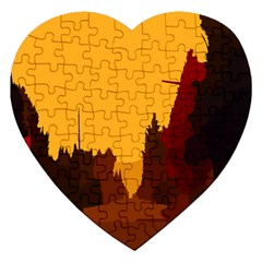 Road Trees Stop Light Richmond Ace Jigsaw Puzzle (heart) by Mariart