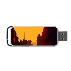 Road Trees Stop Light Richmond Ace Portable Usb Flash (one Side) by Mariart