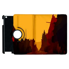 Road Trees Stop Light Richmond Ace Apple Ipad 3/4 Flip 360 Case by Mariart