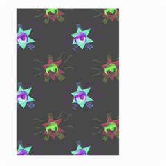 Random Doodle Pattern Star Large Garden Flag (two Sides) by Mariart