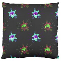 Random Doodle Pattern Star Large Flano Cushion Case (two Sides) by Mariart