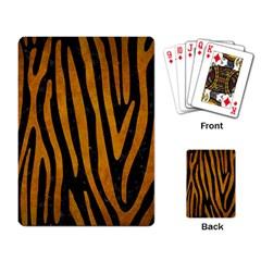 Skin4 Black Marble & Yellow Grunge Playing Card by trendistuff